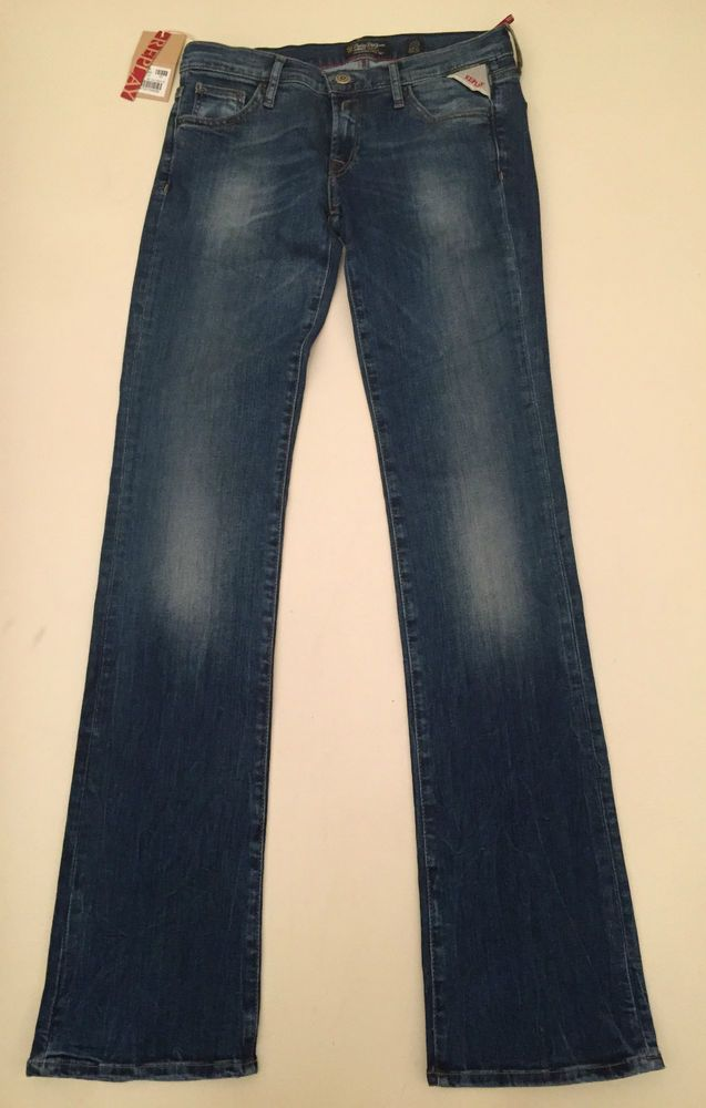 Womens Replay Jeans 29 x 34 Slight Bootcut New Authentic