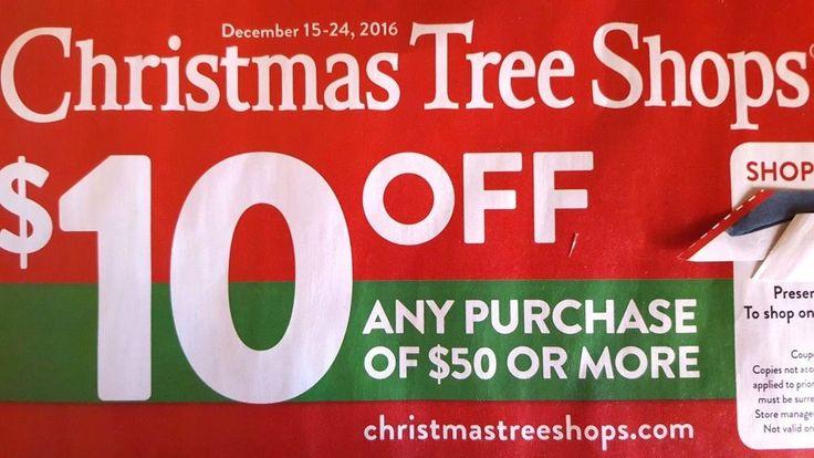 CHRISTMAS Tree SHOPS Coupon LAST MINUTE DEALS Save SAVINGS Promo CODE Exp 12/24*