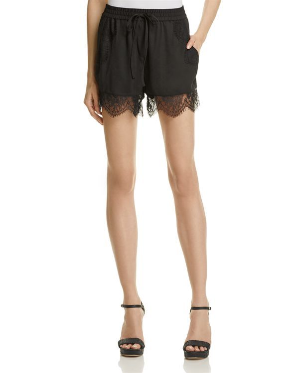 AQUA Lace-Trim Shorts - 100% Exclusive