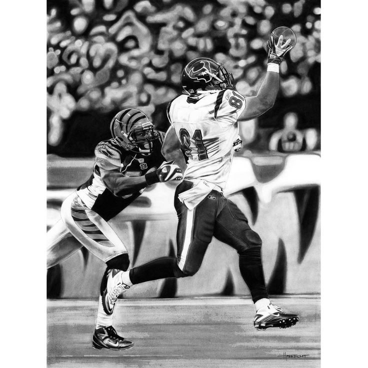 "Cincinnati Bengals vs. Houston Texans Deacon Jones Foundation 24"" x 36"" Texas Hold 'Em Dueling Giclee on Canvas #ad"
