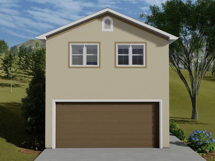 065g 0009 Garage Apartment Plan With 2 Car Garage 1 Bedroom 1