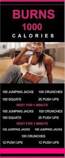 1000 calorie burn workout