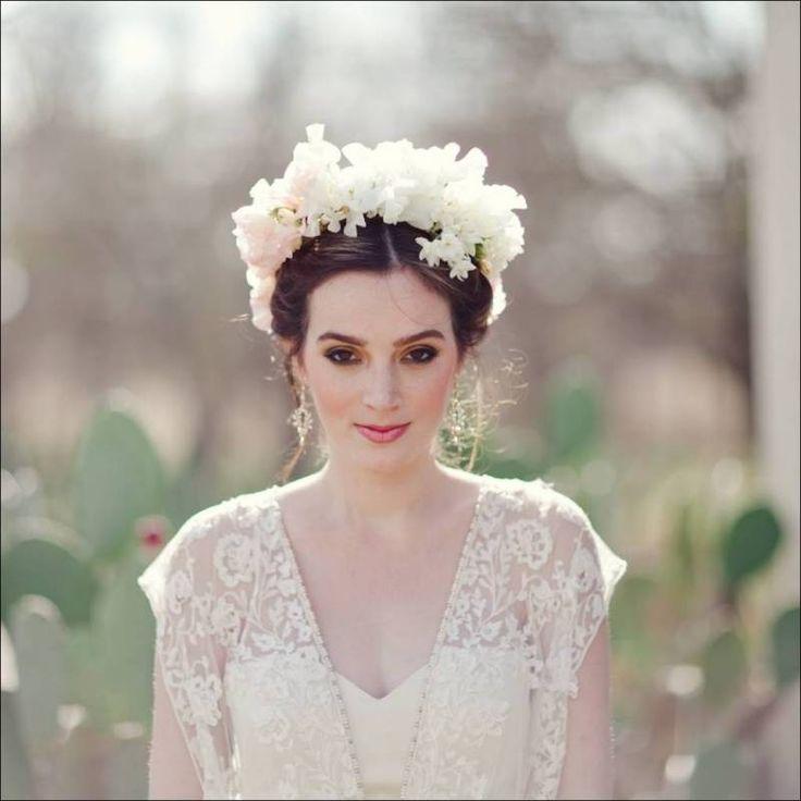 10 best Wedding Flower Crown Inspiration images on Pinterest