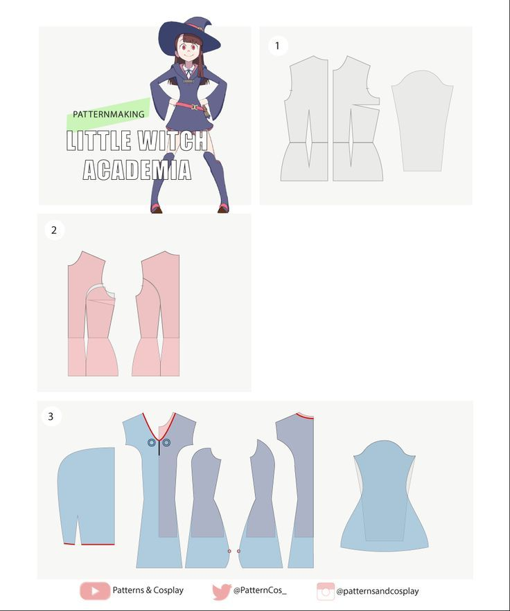 Akko | Little Witch Academia | Cosplay sewing pattern ...