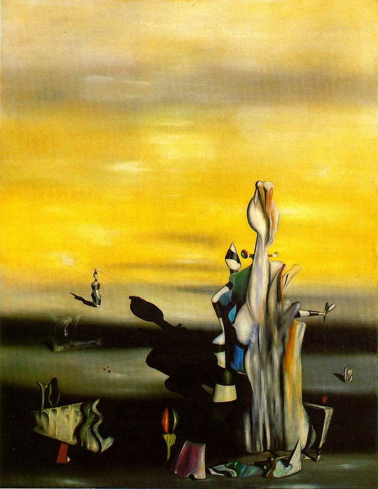 The Absent Lady by Yves Tanguy. 1942. Oil On Canvas, 115 x ...