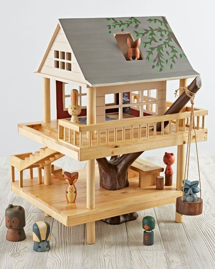 Shop Treehouse Play Set and Camping Buddies.  We've scaled down the classic treehouse from Camp Wandawega to fit into your kid's playroom.