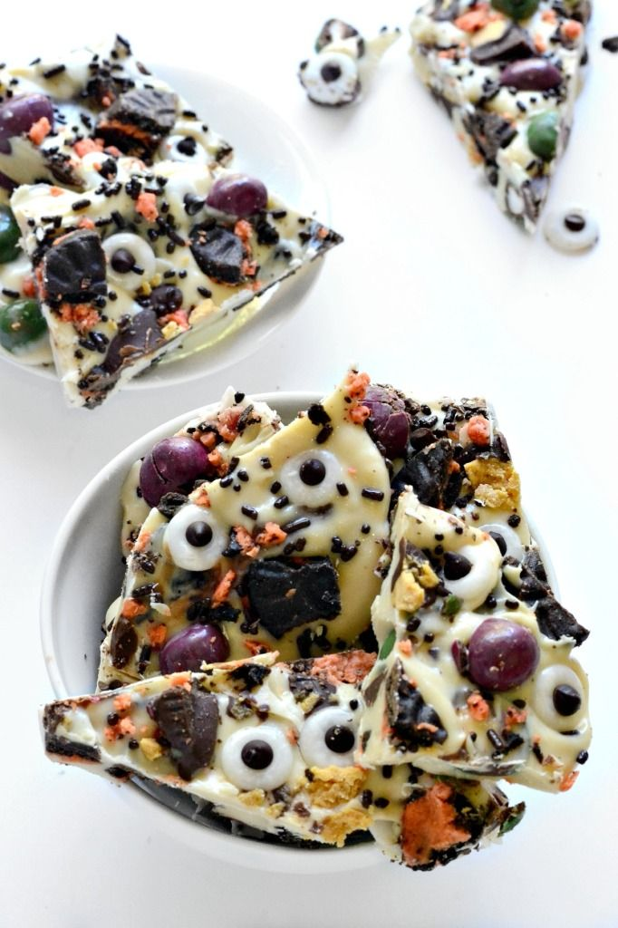 monster halloween candy bark - Easy Halloween Candy Recipes