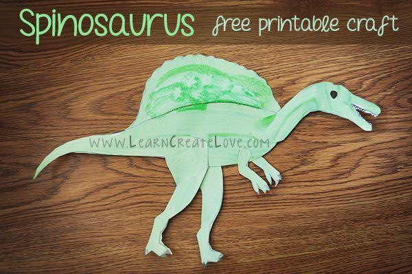 Printable Dinosaur Craft Spinosaurus From LearnCreateLove