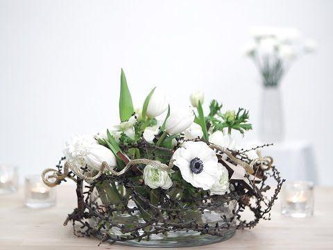 Tee itse pöytäkoriste kukista - Videot - Yhteishyvä #juhlat #juhlakattaus #pöytäkoriste