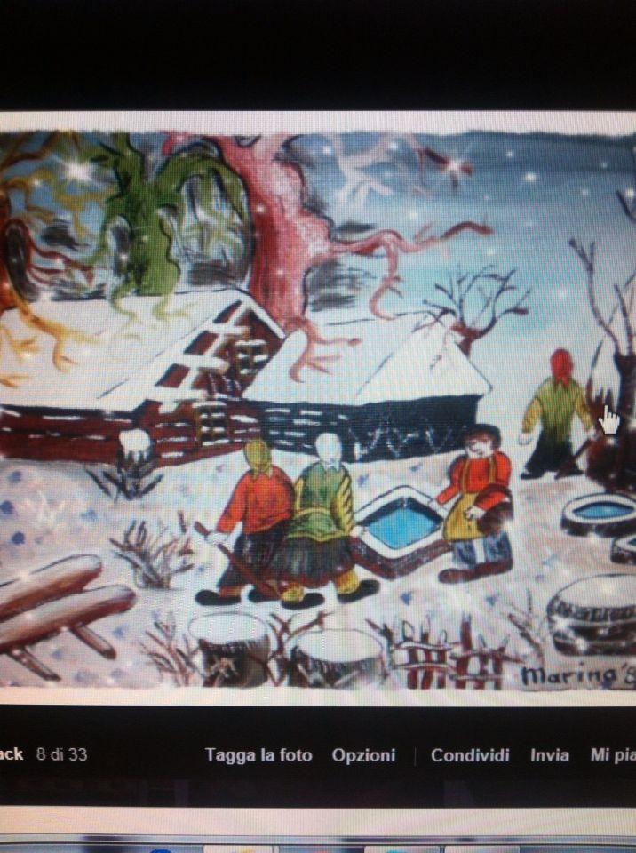 Dipinto 4 stagioni - inverno
