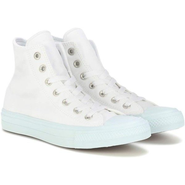 Converse Converse Chuck Taylor II Hi Top Sneakers ($37) ❤ liked on Polyvore featuring shoes, sneakers, white, white hi top sneakers, white hi tops, converse high tops, white high tops and high-top sneakers