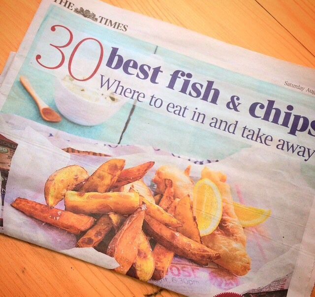 Saturday Times top 30 Fish and Chips in the country! Of course Kerbisher were up there!
