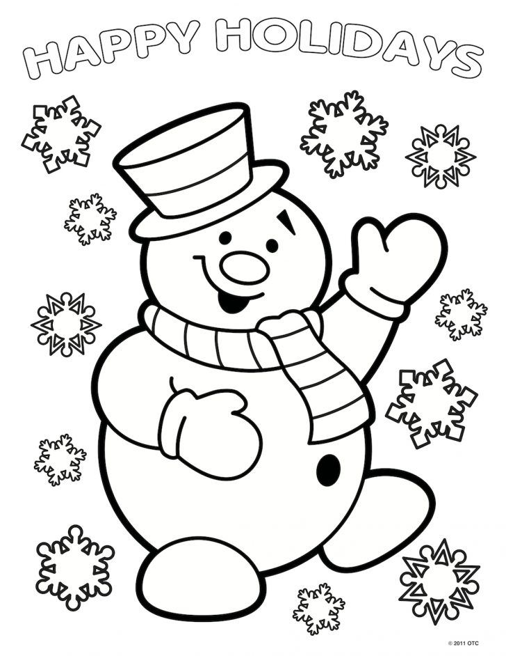 Exclusive Image Of Coloring Pages For 3 Year Olds - Entitlementtrap.com  Snowman Coloring Pages, Printable Christmas Coloring Pages, Coloring Books