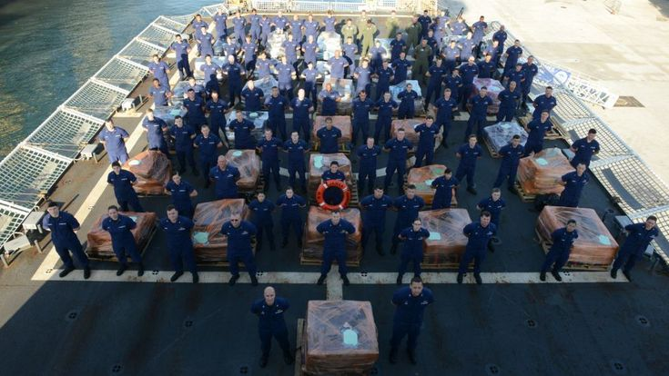 The U.S. Coast Guard Cutter James' crew offloaded approximately 16 tons of cocaine Tuesday in Port Everglades. The cocaine is worth an estimated $420 million wholesale and was seized in international waters off the Eastern Pacific Ocean. http://maritime-executive.com/article/uscg-offloads-16-tons-of-cocaine-in-port-everglades