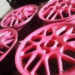 : pinkbpowder coated rims for sale