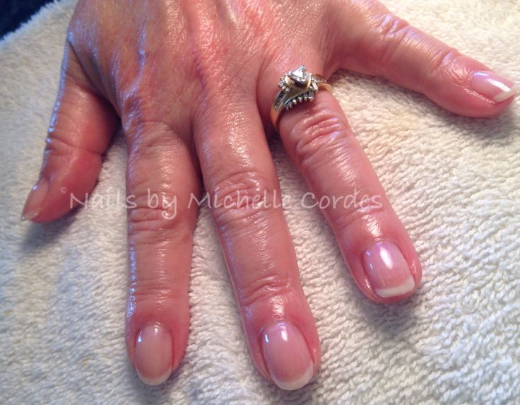 """""""american"""" manicure with shellac"""