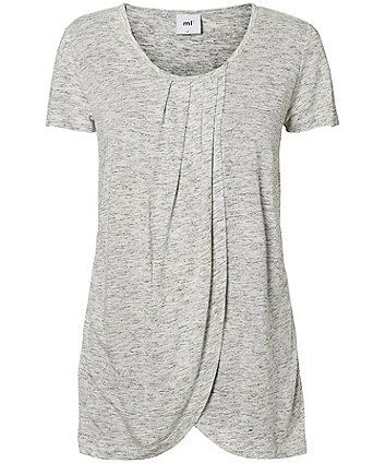 Mamalicious Grey Jersey Nursing Top