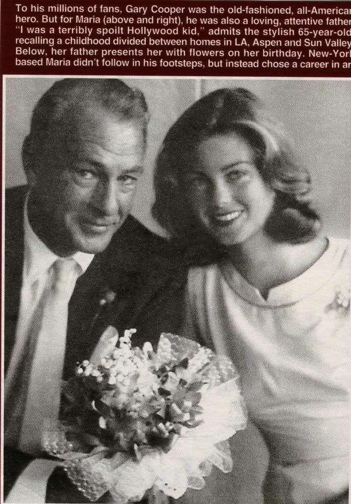 Gary Cooper and his daughter scrapbook | Classic Hollywood ...