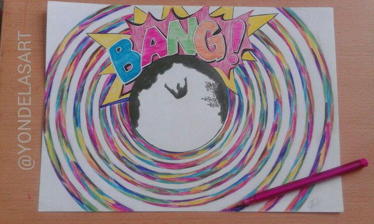 Bang bang! Drawing using pens😍