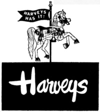 Harveys Department Store--My mom took me there to see the Easter Bunny when I was little. I still remember it.