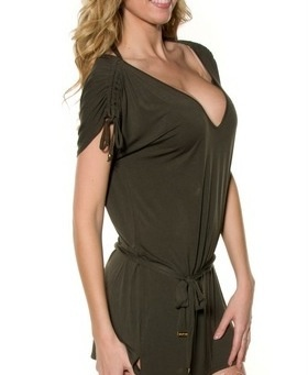 Low -V Neck Cover up by Seafolly Swimwear at PescaTrend.