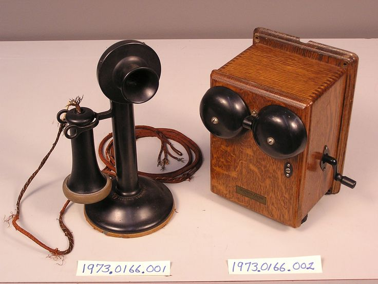 1910 Northern Electric candlestick Telephone with magneto Sub-Set 1973.0166