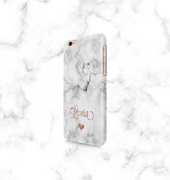 Phone case personalised, marble phone case, Iphone 6s, Iphone 7, plus, Samsung s8, rose gold phone case, custom phone case, phone cover