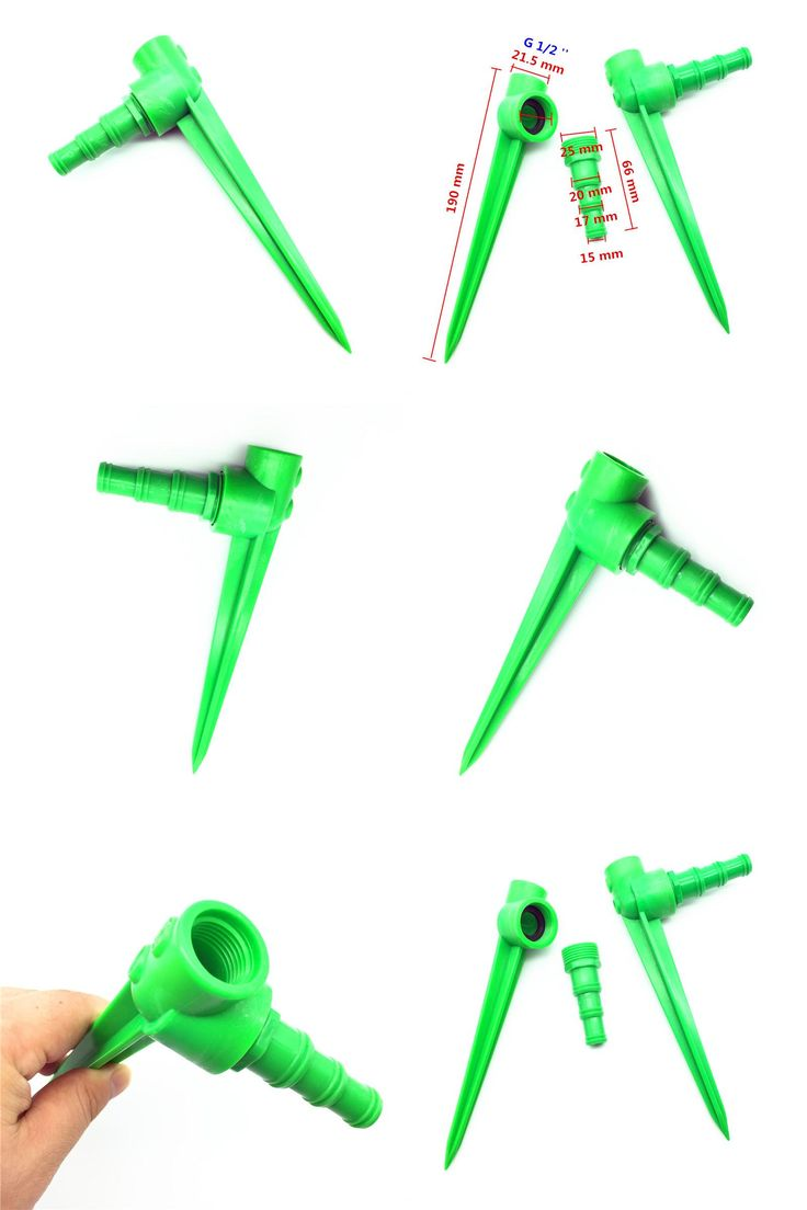 [Visit to Buy] 1 Pcs Drip G1 / 2 '' Plastic Spike Adjustable Lawn Impulse Sprinkler Hose Grass Spike Water Garden Spray Irrigation Bracket #Advertisement