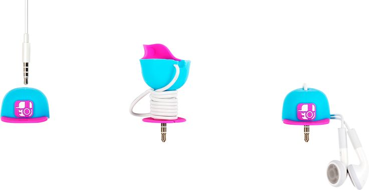 #earphone #winder #silicon #protector #cap #baseball #design #cute #smartphone #small #sumneeds #color