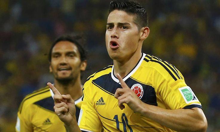 Imagens de Colômbia x Uruguai A vibração do camisa 10 colombiano, um dos melhores da Copa