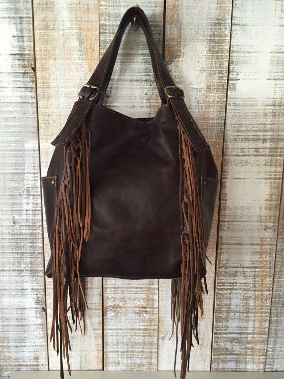 Black hobo bag purse frige bag black leather purse by Percibal