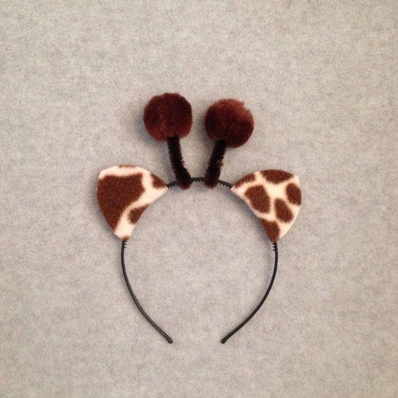 giraffe ears headband via Etsy