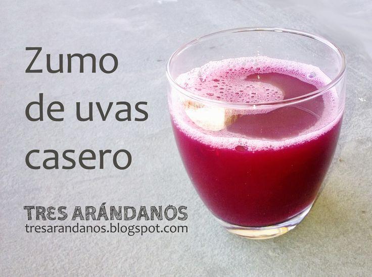 zumo de uvas casero / Home made grape juice #zumos #uvas #tresarandanos
