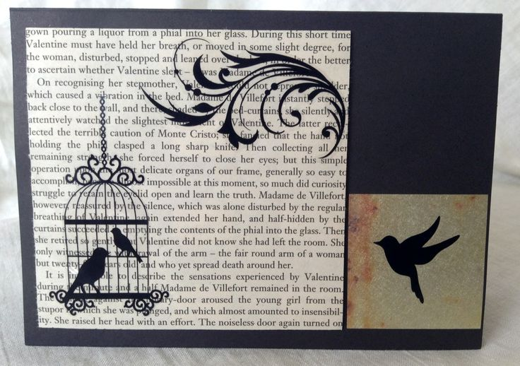 A Beautiful, classic themed card, perfect to use for any occasion, and to give to any person. This one was made for one of my Aunts, and uses upcycled book pages!!