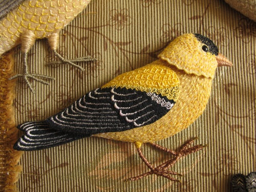Birds of Beebe Woods. Wow this is an amazing embroidery piece. I loved looking at all the blog posts during the creation and the final product - WOW!