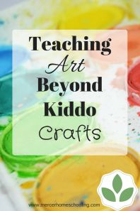 Ideas and resources for homeschooling art and art appreciation from preschool through elementary.