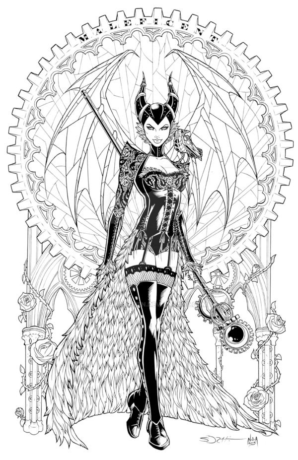 Steampunk Maleficent Redux - Shibao by LahmiaRaven on DeviantArt