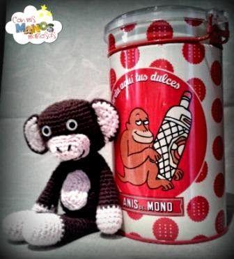 Patrón Amigurumi Monete. Encontrarás más patrones en http://conmismanosmaniosas.blogspot.com.es/