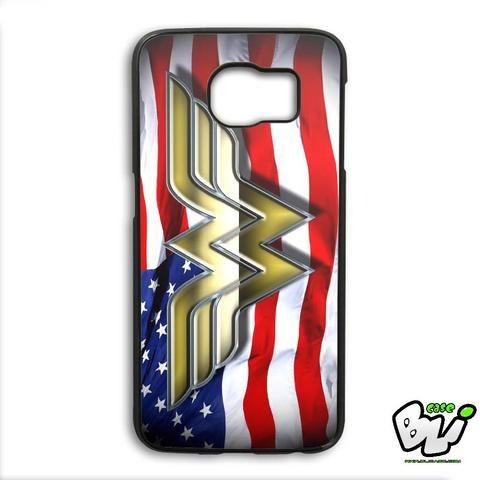Wonder Woman American Flag Samsung Galaxy S6 Edge Plus Case