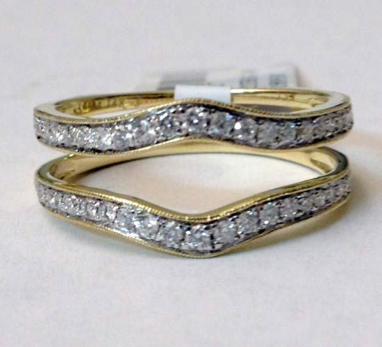 Yellow Gold Ring Guard Wrap Solitaire Enhancer (0.40ct. tw)- RG321289541792