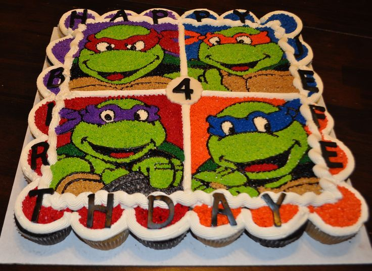 ninja cupcakes ninja turtle cupcake cake cupcake cakes party cakes ...