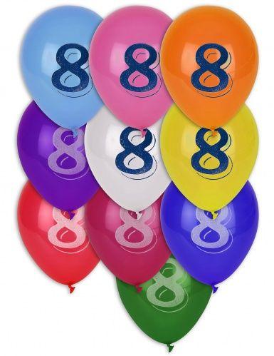 10 globos número 8
