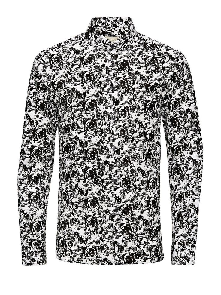 ALL-OVER PRINTED BUSINESS SHIRT, White