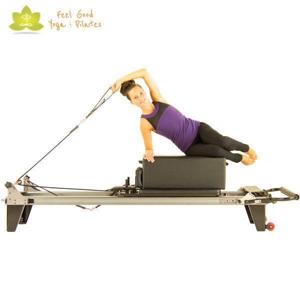 clam pilates reformer exercise start position                              …