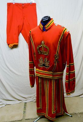 Vintage MEN British England Royal Queen Body Guard Costume Size 41 | eBay