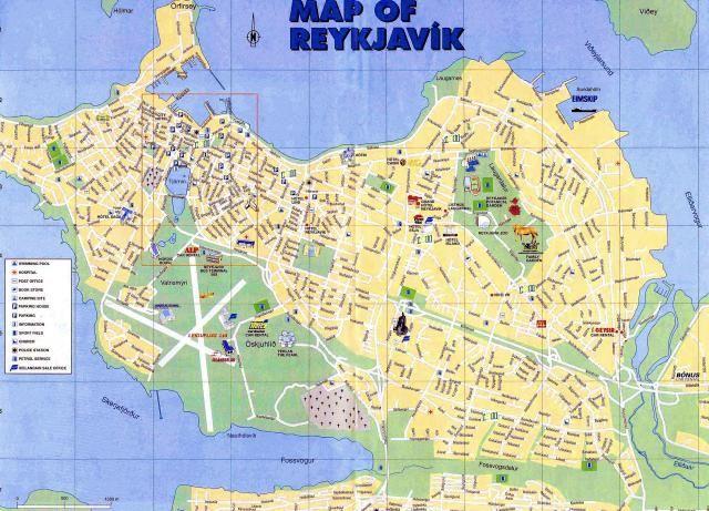 The 10 Best Free Things in Reykjavik, Iceland: Free Reykjavik Street Map