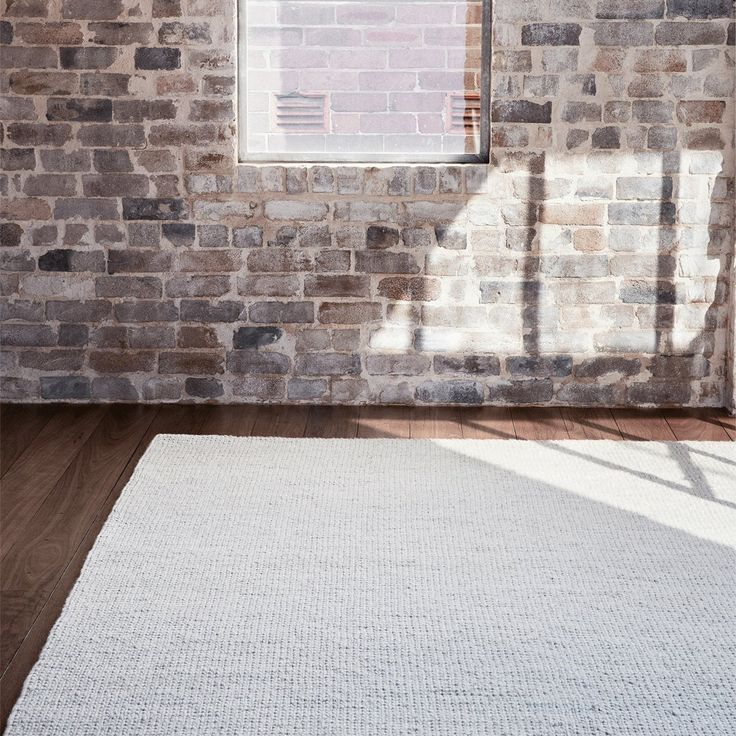 Sierra Weave Wool Rug in White and Light Grey from Armadillo and Co | Urban Couture - Designer Homewares & Furniture Online