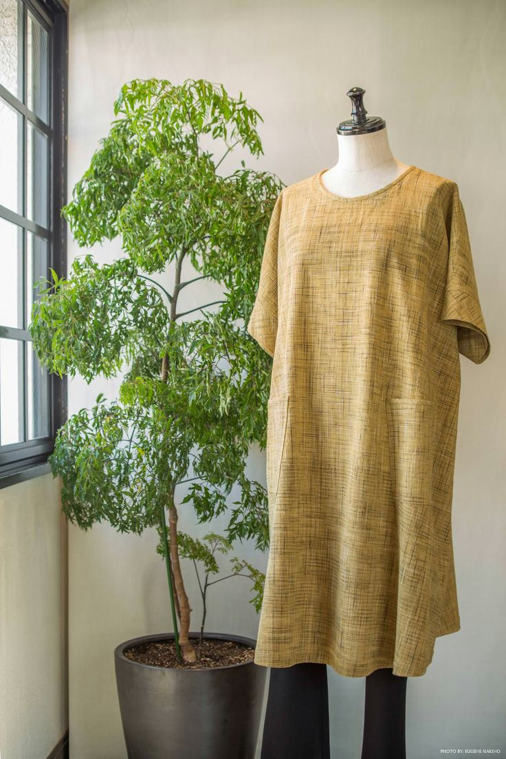 GRAPE Motomachi / Khadi Tunic #khadi #yellow #tunic #dress #grapemotomachi