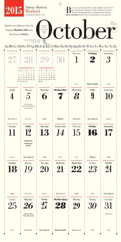 Design Nerd Alert: Wall Calendar Honors A New Typeface Every Month | Co.Design | business + design