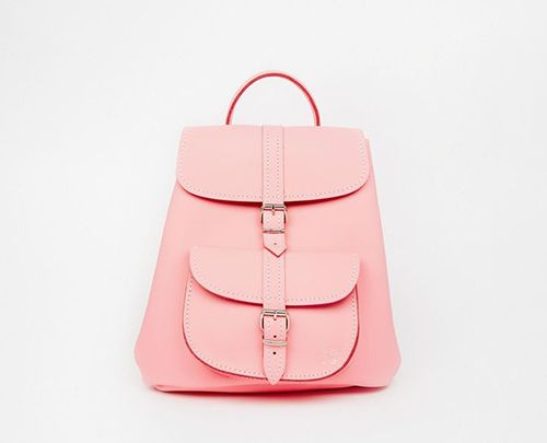 Think pink in this Mini Backpack by Grafea.
